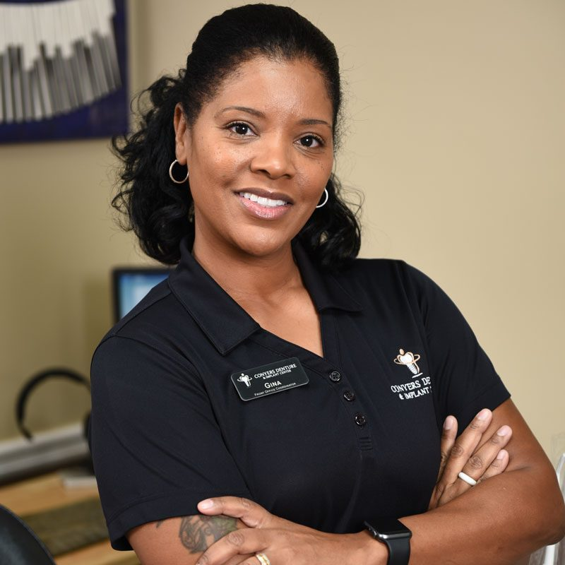 Conyers Denture & Implant Center Receptionist, Gina Lawton